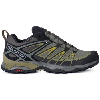 Shoes Men Low top trainers Salomon X Ultra 3 Gtx Prime Black-Olive