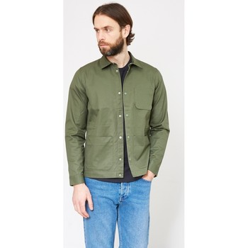 Clothing Men Jackets Folk Painters Jacket Khaki Green