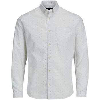 Clothing Men long-sleeved shirts Produkt CAMISA  PKTDEK DOTLES POPLINAOP SHIRT L/S BLANCO