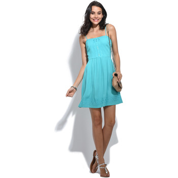 Clothing Women Dresses 2 Two Straight collar dress with adjustable straps JYSTO Turquoise Wo Turquoise