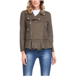 Clothing Women Jackets Laura Moretti Jacket LAGOS Olive green Woman Autumn/Winter Collection Olive green