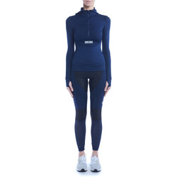 Clothing Women Jackets Adidas By Stella Mccartney Run blue technical jacket with hood Blue