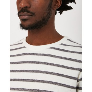 Clothing Men T-shirts & Polo shirts The Idle Man Reverse Loopback Breton Stripe T-Shirt White White