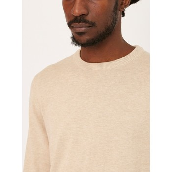 Clothing Men jumpers The Idle Man Crew Neck Knitted Jumper Stone Other