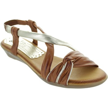 Shoes Women Sandals Marila 407/In-25 Caoba/Platino