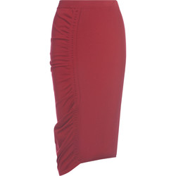 Clothing Women Skirts Circus Hotel Gonna  rossa in maglia elasticizzata Red