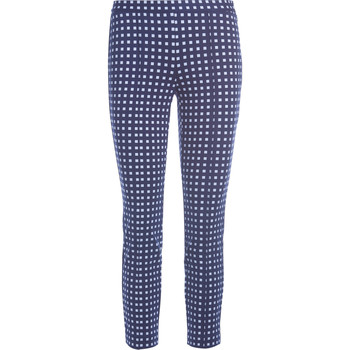 Clothing Women Trousers MICHAEL Michael Kors blue and white checked trousers Blue