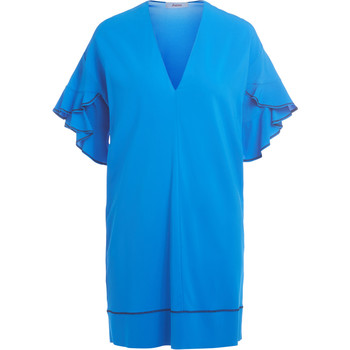 Clothing Women Dresses Jucca blue dress with flounced sleeves. Blue