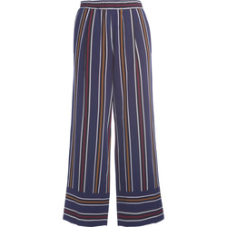 Clothing Women Trousers Roberto Collina stiped high waist trousers Blue