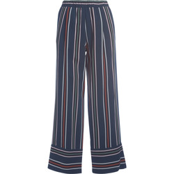 Clothing Women Trousers Roberto Collina striped high waist trousers Blue