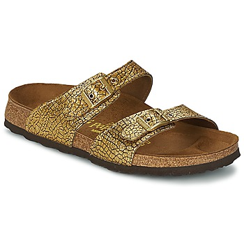Shoes Women Mules Papillio SYDNEY Blackcurrant / Crack / Gold