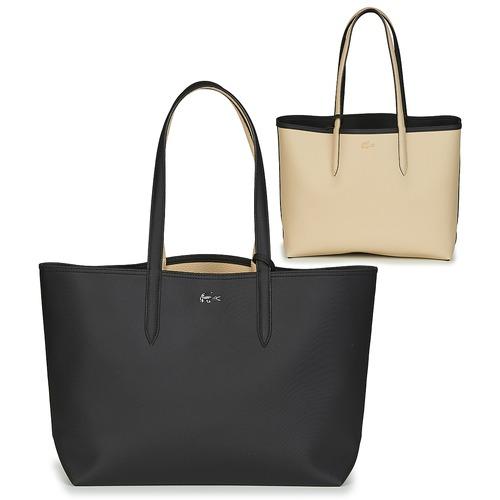 Bags Women Shopping Bags / Baskets Lacoste ANNA Black / Beige