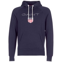 Clothing Men sweaters Gant GANT SHIELD SWEAT HOODIE Marine