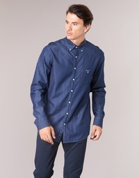 Clothing Men Long-sleeved shirts Gant THE INDIGO REG BD Blue