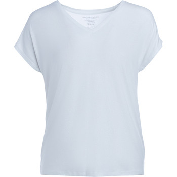 Clothing Women short-sleeved t-shirts Majestic Filature Majestic Filatures T-shirt in white and silver lurex White