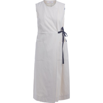 Clothing Women Dresses Jucca ivory crossed long dress White