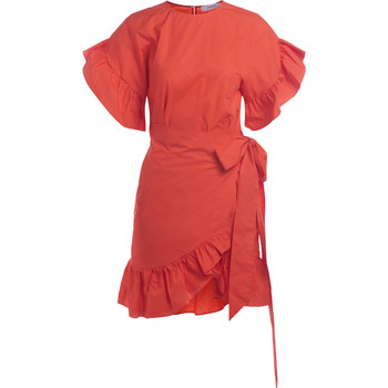 Clothing Women Dresses Jucca red crosses dress with flounces Red