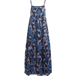 Clothing Women Dresses Jucca coffee long dress with multicolor print Multicolour