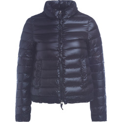 Clothing Women Duffel coats Twinset black down jacket with rouches and lace Black