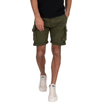 Clothing Men Shorts / Bermudas Alpha Industries Men's Crew Cargo Shorts, Green green