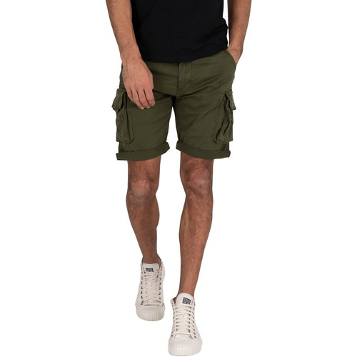 Clothing Men Shorts / Bermudas Alpha Crew Cargo Shorts green