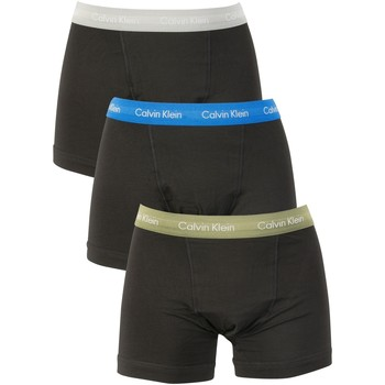 Clothing Men Trunks / Underwear Calvin Klein Jeans Men's 3 Pack Cotton Stretch Trunks, Black black