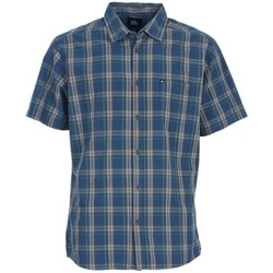 Clothing Men short-sleeved shirts Quiksilver EVERYDAY CHECK SS Blue