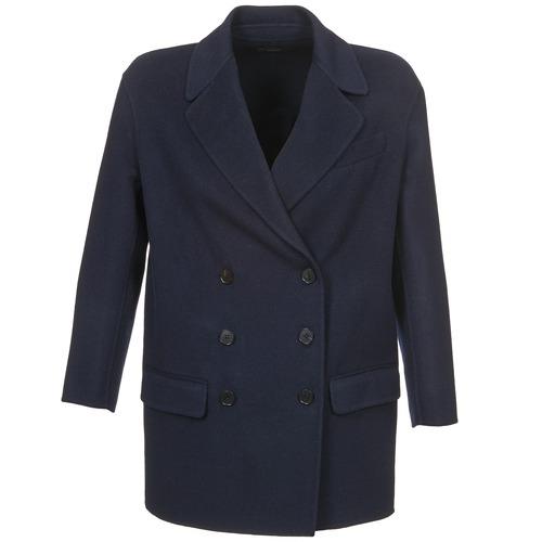 Clothing Women Coats Joseph DOBBLE Marine