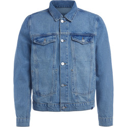 Clothing Men Jackets Wood Wood Angel blue denim jacket Blue