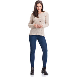 Clothing Women jumpers Laura Moretti Pullover AMARANTA Beige Woman Autumn/Winter Collection Beige