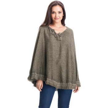 Clothes accessories Women Scarves / Slings Laura Moretti Poncho ANNETTA Green Woman Autumn/Winter Collection Green