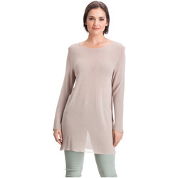 Clothing Women Tops / Blouses Laura Moretti Pullover DENY Beige Woman Autumn/Winter Collection Taupe