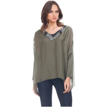 Clothing Women Tops / Blouses Laura Moretti Blouse NAMYBIA Green Woman Autumn/Winter Collection Green