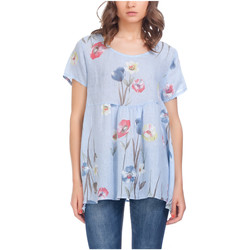 Clothing Women Tops / Blouses Laura Moretti Blouse NAWA Blue Woman Autumn/Winter Collection Blue