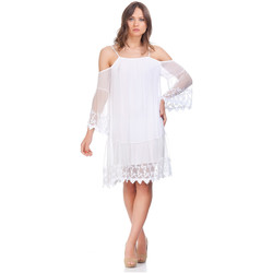 Clothing Women Short Dresses Laura Moretti Dress NIRVANA White Woman Autumn/Winter Collection White