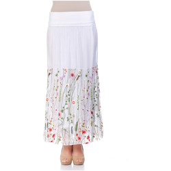 Clothing Women Skirts Laura Moretti Long skirt ZUINA White F White
