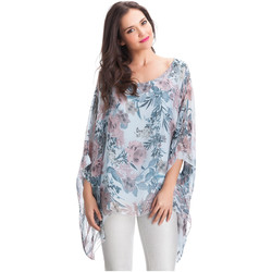 Clothing Women Tops / Blouses Laura Moretti Blouse YELDA Blue Woman Autumn/Winter Collection Blue