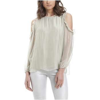 Clothing Women Tops / Blouses Laura Moretti Blouse MARY Green Woman Autumn/Winter Collection Green