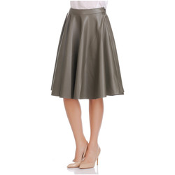 Clothing Women Skirts Laura Moretti Skirt SHIRLEY Olive green Woman Autumn/Winter Collection Olive green