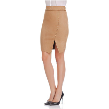 Clothing Women Skirts Laura Moretti Skirt BEVERLY Camel Woman Autumn/Winter Collection Camel