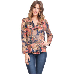 Clothing Women Jackets Laura Moretti Jacket BETTY Multicolor Woman Autumn/Winter Collection Multicolor