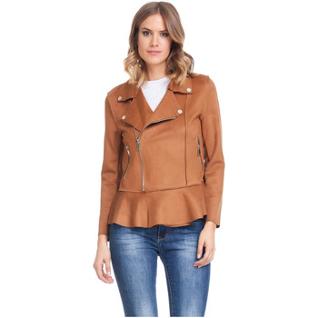 Clothing Women Jackets Laura Moretti Jacket LAGOS Brown Woman Autumn/Winter Collection Brown