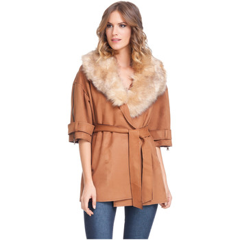 Clothing Women Jackets Laura Moretti Jacket JOELLE Camel Woman Autumn/Winter Collection Camel