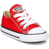 Shoes Children Low top trainers Converse Chuck Taylor OX Red