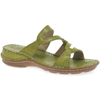 Shoes Women Sandals Extrafit Canna Womens Leather Sandals green