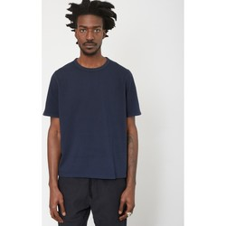 Clothing Men T-shirts & Polo shirts Folk Panel Stitch T-Shirt Navy Blue