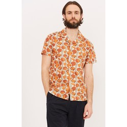 Clothing Men short-sleeved shirts Wax London Didcot Short Sleeve Print Shirt Orange Orange