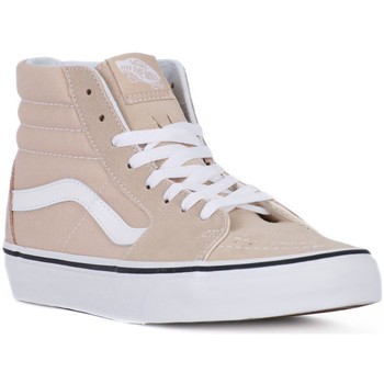 Shoes Women Trainers Vans SK8 HI FRAPPE Beige
