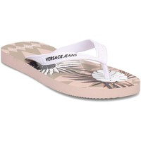 Shoes Women Flip flops Versace E0VRBSL170068525 Pink-White