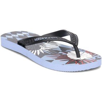 Shoes Women Flip flops Versace E0VRBSL170068MEK Black-Blue